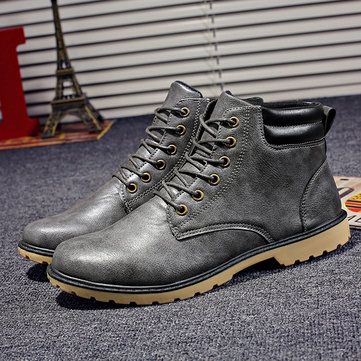 Men Non-slip Outdoor Casual Leather Boots