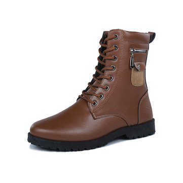 Men Outdoor Work Style Motorcyle Ankle Boots