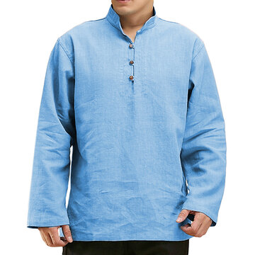 Chinese Style Casual Buttons T Shirts