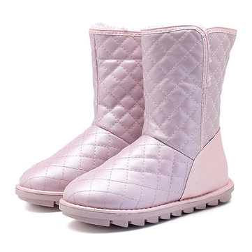 81db1661e35a Solid color Mid Calf Cold Weather Flat Boots For Women