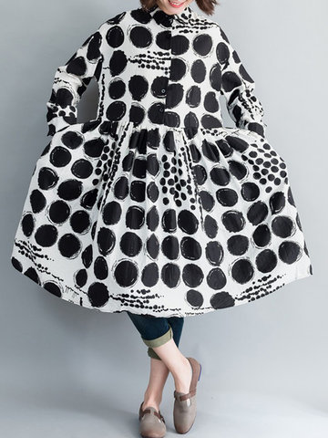 Print Polka Dot Casual Dress
