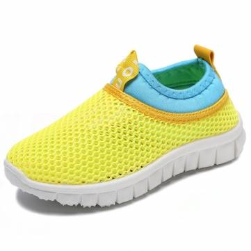 Unisex Kids Candy Color Mesh Casual Shoes