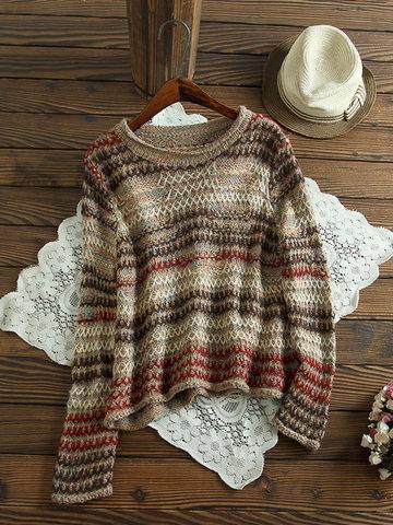 Жаккардовые полоски Вязаные свитера