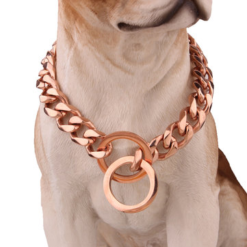 Pet Dog Collar Chain Acero inoxidable Link Choke Solid Neckla
