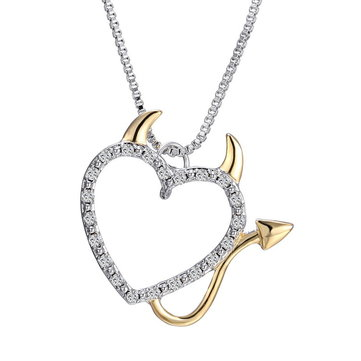 Creative Heart Devil Crystal Necklace