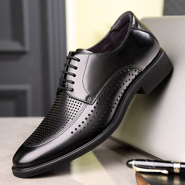 New Season Casual Shoes Breathable Hollow Wild Business Men's Shoes Leather Dress Shoes Shoes Shoes