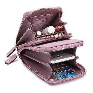 Cartão Sólido Das Mulheres Bolsa Telefone Bolsa Crossbody Bolsa