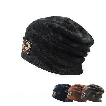 1aa999ebb64 Men Women Knitted Elastic Beanie Cap Baggy Slouchy Knitting Ski Outdoor  Sports Warm Hat