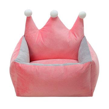 3 Colors Luxury Crown Crystal Velvet Pet Bed Kennel