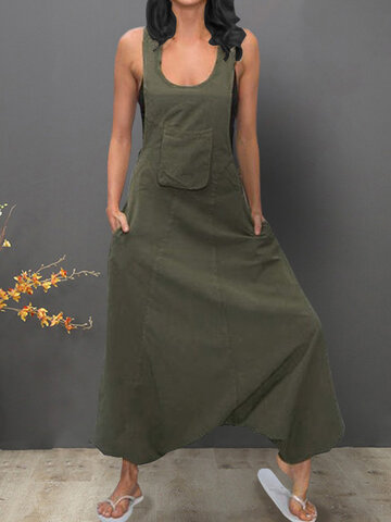 Sleeveless Bib Pants Harem Trousers Jumpsuit Playsuit Overal