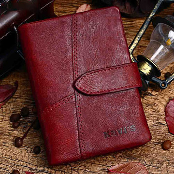 Genuine Leather Vintage Small Short Wallet