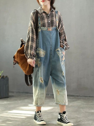 Patchwork Nine Pants Jumpsuit