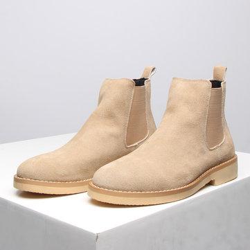 Botas de chelsea de tornozelo de camurça de homens