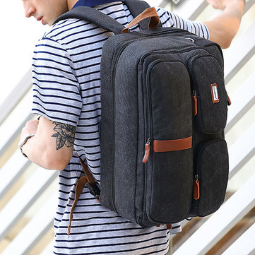 Canvas Business 17.3 Inch Laptop Waterproof Backpack For Men