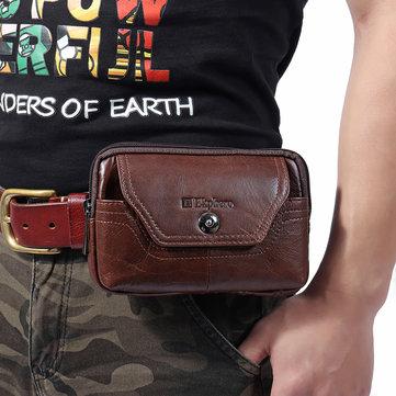 8b3f9aa3fb350 Ekphero حقائب حزام جلد البقر الرجعية كبيرة سعة حقائب الخصر هاتف حقائب للرجال