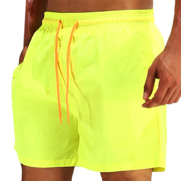 Water Repellent Drawstring Swim Trunks