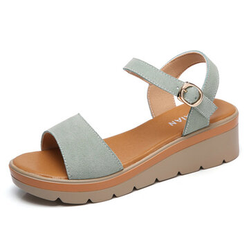 Buckle Wedges Casual Sandals