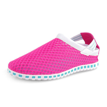 Big Size Breathable Mesh Hollow Out Sandals Slip On Casual Beach Shoes