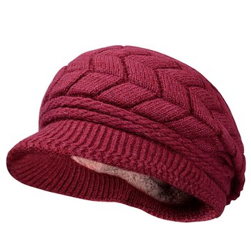 Women Thicken Knitted Beret Hat