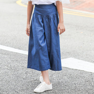 Girls Wide Leg Jeans For 6-15Y