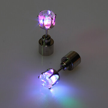 1 Pair LED Zircon Earrings
