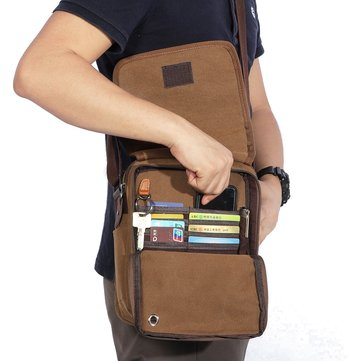 Multifunctional Casual Canvas Travel Crossbody Bag