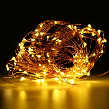 [{}} 10M 100 LED Kupferdraht Fairy String Light Batteriebetriebene wasserdichte Xmas Party [{}} 10M 100 LED Kupferdraht Fairy String Light Batteriebetrieben Waterproof Xmas Party Decor Schwarz Shell [{}} String Light [{}} Technische Daten: [{}} Untere Tas