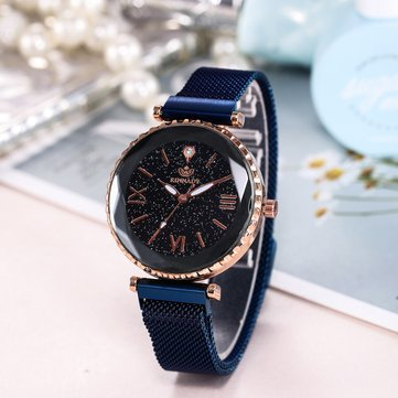 Trendy Starry Sky Roman Watch, Black rose gold