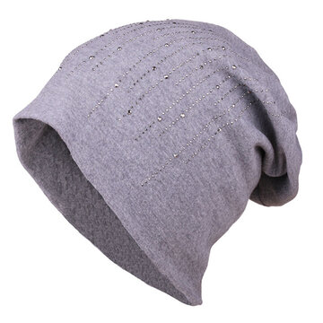Women Solid Knitted Skullies Beanies Caps