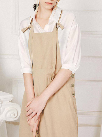 Vintage Swing Pinafore Overall Strap Dress