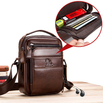 Home Smart New Design Man Pu Leather Messenger Bag Brown Travel Chest Bag Small Crossbody Bag Casual Shoulder Bag For Men Women