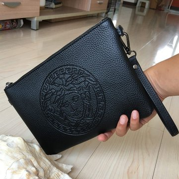 Men Large-Capacity Multi-Functional Pu Leather Clutch Bag