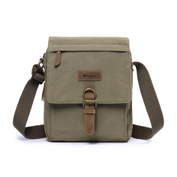 Men Vintage Canvas Multifunction Expandable Crossbody Bag
