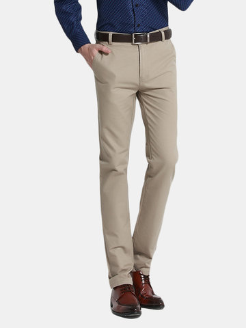 979f6be878b Mens Straight Non-Slip Waist Casual Business Suit Pants