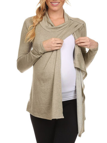 Soft Cotton Maternity Nursing Tops