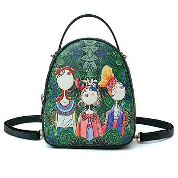 حقائب النساء غابة طباعة البوهيمي متعددة الوظائف