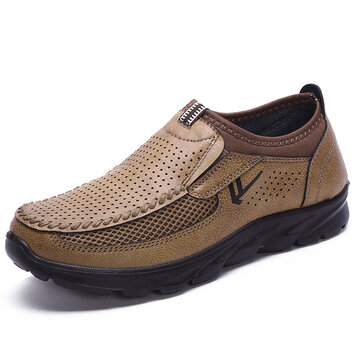 Large Size Men Hollow Out Comfy Walking Shoes