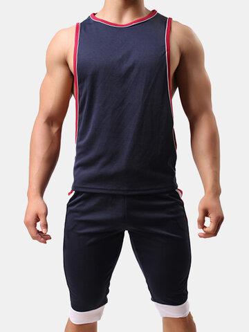 2e19447fb136 Mens Sexy Sleeveless Loose Fit Vest Sport Tank Tops