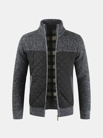 Casual Mens Fleece Thicken Jacket