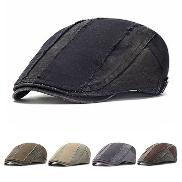 Washed Pure Cotton Adjustable Beret Hat