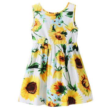 Sunflower Girls Summer Dresses For 1Y-9Y