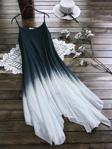 Gradient Color Straps Maxi Dress