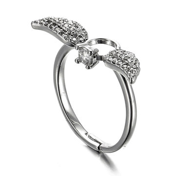 JASSY Sweet Sterling Silver Angel Wings Ring