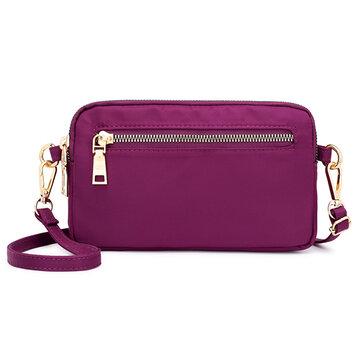 حقيبة كتف لون اسود للنساء Nylon