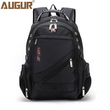 AUGUR Men Waterproof Large Capacity Oxford Leather Sport Travel Outdoor  Laptop Shoulder Bag Backpack d71a72884acec