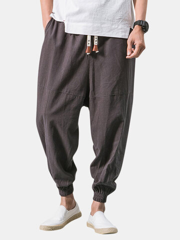 Linen Breathable Loose Harem Pants