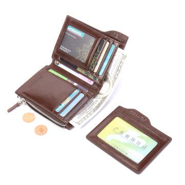 RFID Antimagnetic Genuine Leather Vintage Wallet