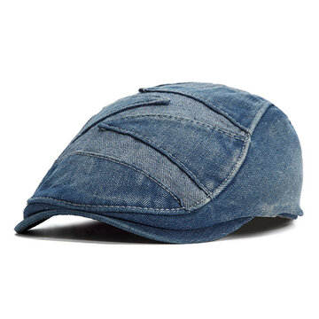 Mens Summer Vintage Denim Cowboy Cap