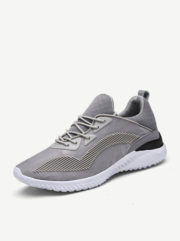 Big Size Breathable Mesh Lace Up Sneakers Athletic Casual Trainers For Women