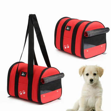 Pet Carrier Carrying Cat Dog Puppy Portable Travel Carrier Tote Mesh Cage Bag Crate Outdoor